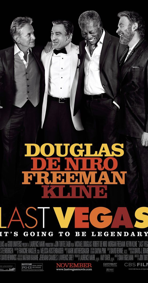 Directed by Jon Turteltaub.  With Robert De Niro, Michael Douglas, Morgan Freeman, Kevin Kline. Three friends take a break from their day-to-day lives to throw a bachelor party in Las Vegas for their last remaining single pal.