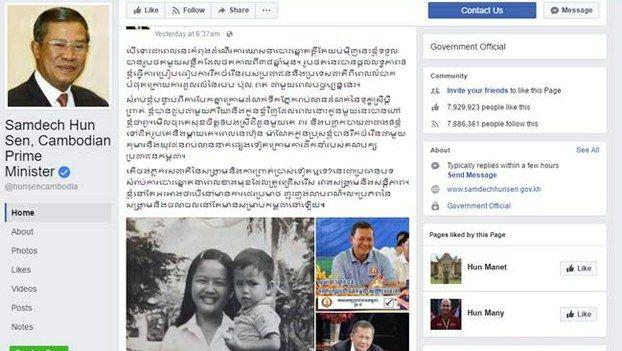 Cambodias Hun Sen Doubles Down in Facebook War Threat