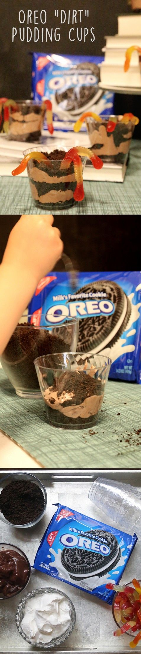"""[Sp] Let your kids play in the """"dirt"""" with these OREO cookie pudding cups!"""