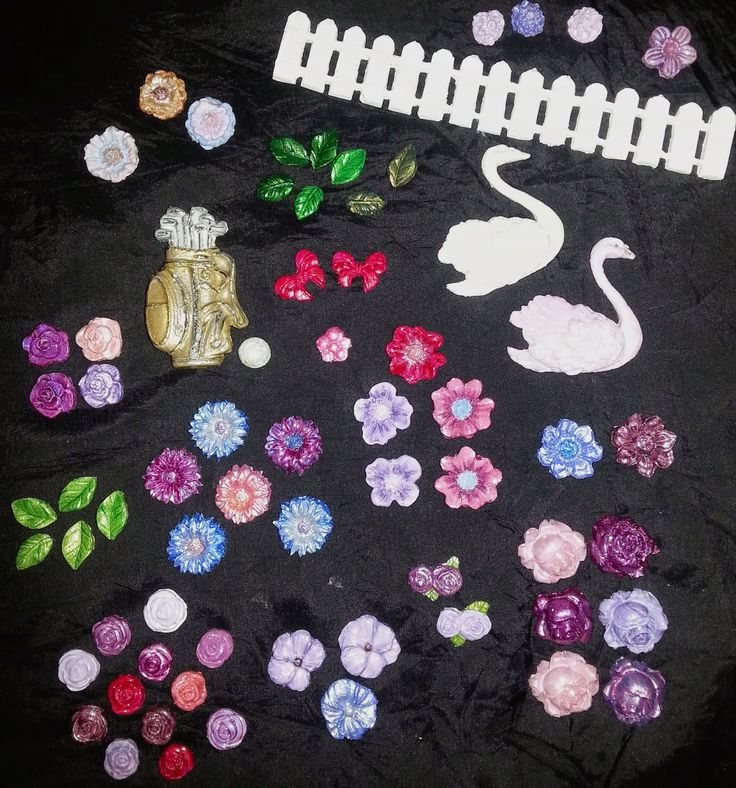 home made and hand painted Glue Embellishments!!