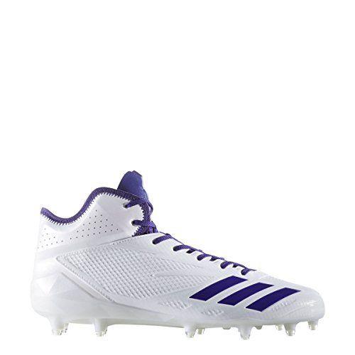 fbccdf0002b2 adidas Adizero 5Star 60 Mid Cleat Mens Football 115 WhiteCollegiate Purple  -- Amazon most trusted