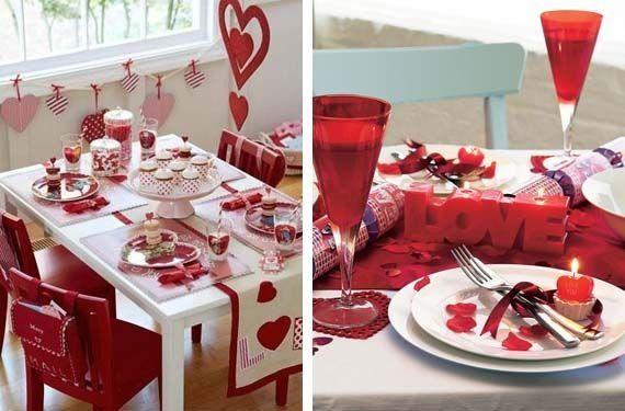 Super idea para decorar tu mesa y celebrar el dia del amor for Decoracion de pared para san valentin