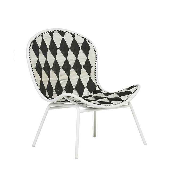 Sahara Lounge Chair - Black & White