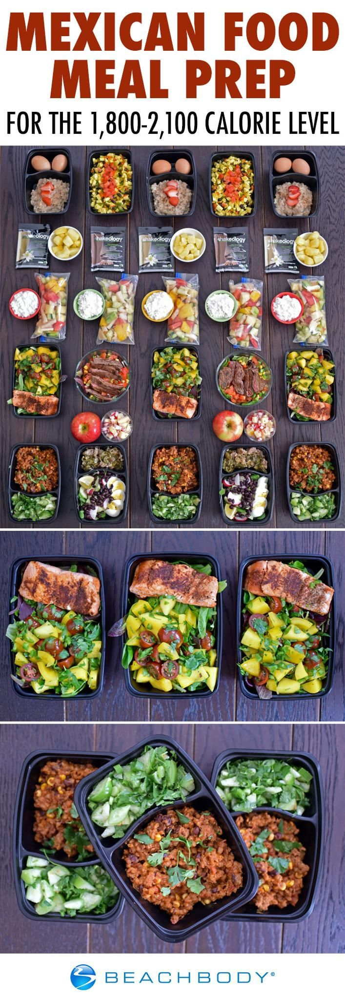 Mexican Food Meal Prep For The 1,800–2,100 Calorie Level