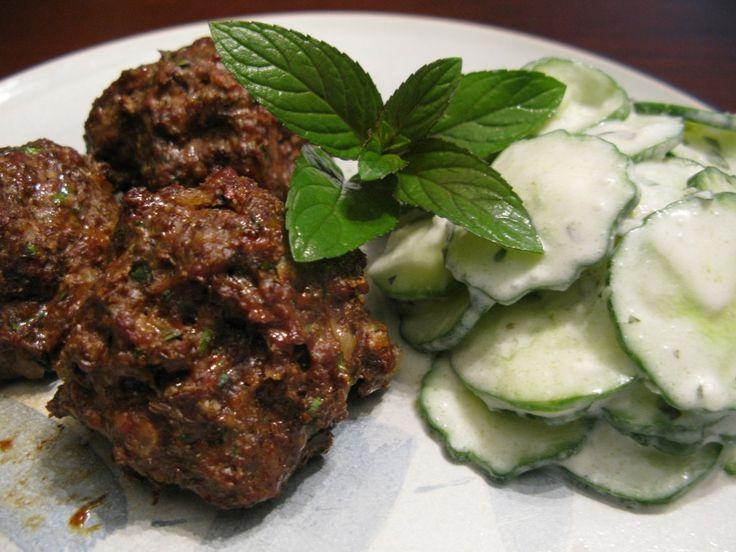 Turkish Hidden Liver Meatballs with Paleo Cacik