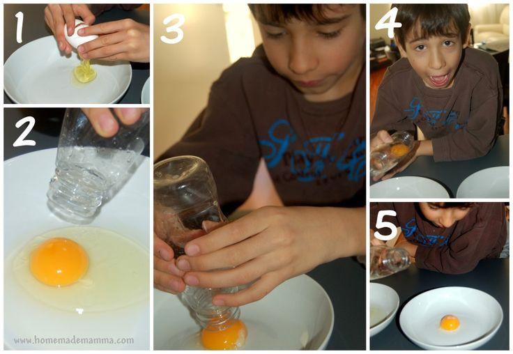 Esperimenti scientifici con i bambini: l'uovo con il risucchio