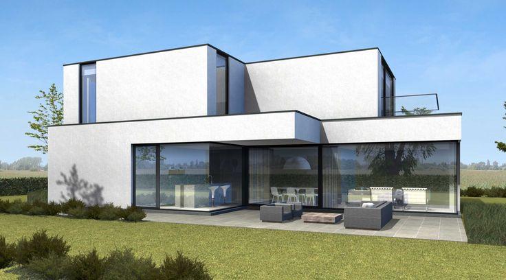 Architect Kris Van Den Broeck  #absbouwteam #absoluutarchitectuur #render #modern #blackandwhite