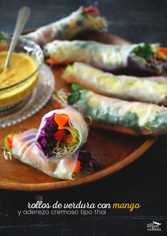 Rollos de Verduras con Aderezo Cremos tipo Thai