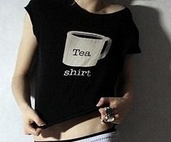 tea shirt.