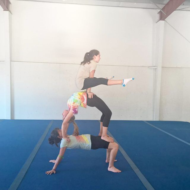 Fresno Acrobatic Gymnastics trio. Acro gymnastics