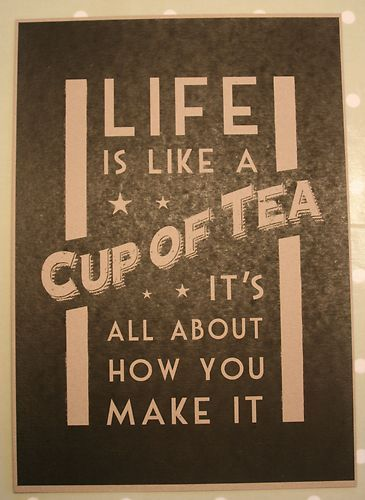 Vintage Chic East of India Retro Poster Sign Picture Life is like a Cup of tea | eBay