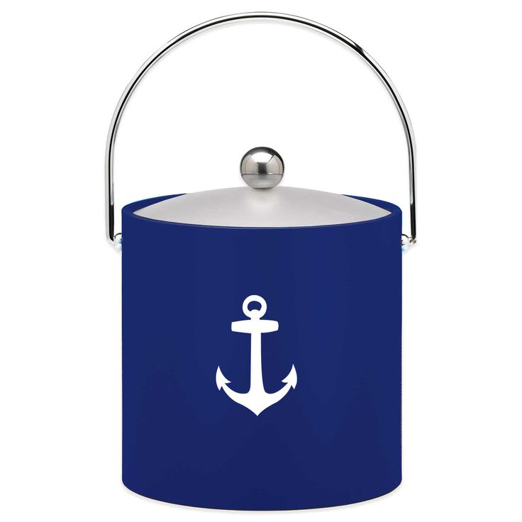 @BBBeyond -Kraftware™ 3 qt. Anchor Ice Bucket in Blue