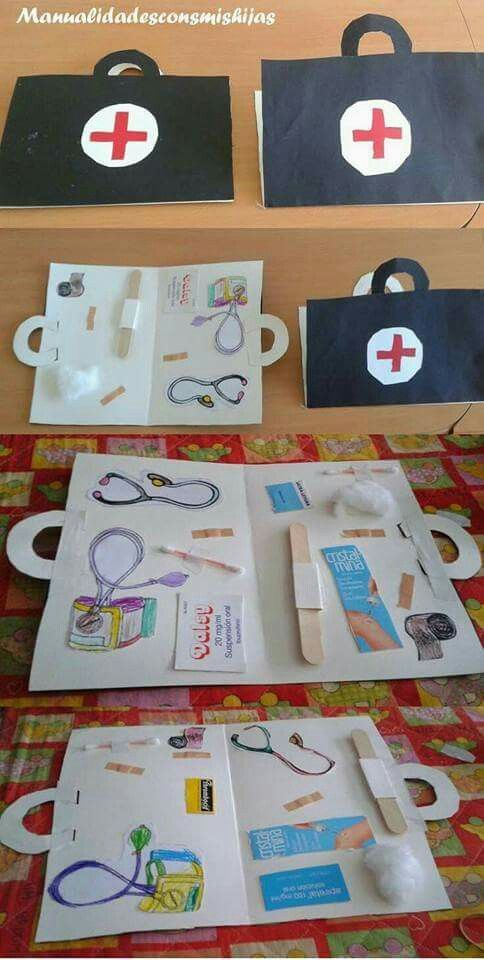 Doctor's briefcase craft activity for community helpers theme