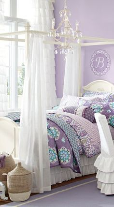 Brooklyn Quilt in Purple- so cute for a girls room!                                                                                                                                                                                 More