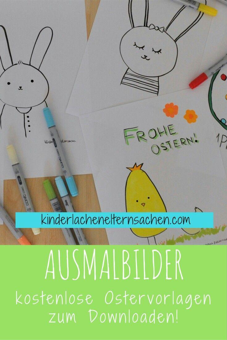 Kostenlose Oster Malvorlagen zum Downloaden und Ausdrucken. Perfekt als Geschenk, Karte oder als Wandbild.   Kind, Kinder, DIY, Ostern, Basteln, Kids, Children, drawing, Buntstifte