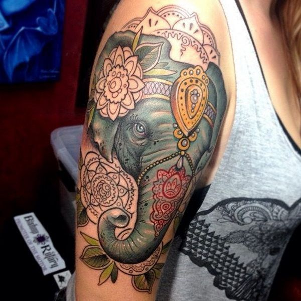 Circus Elephant Tattoo.