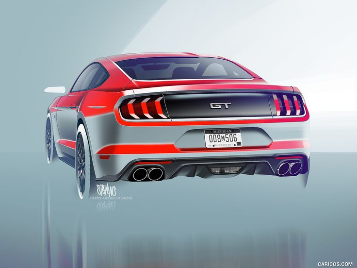 2018 Ford Mustang - Design Sketch, #24 of 25