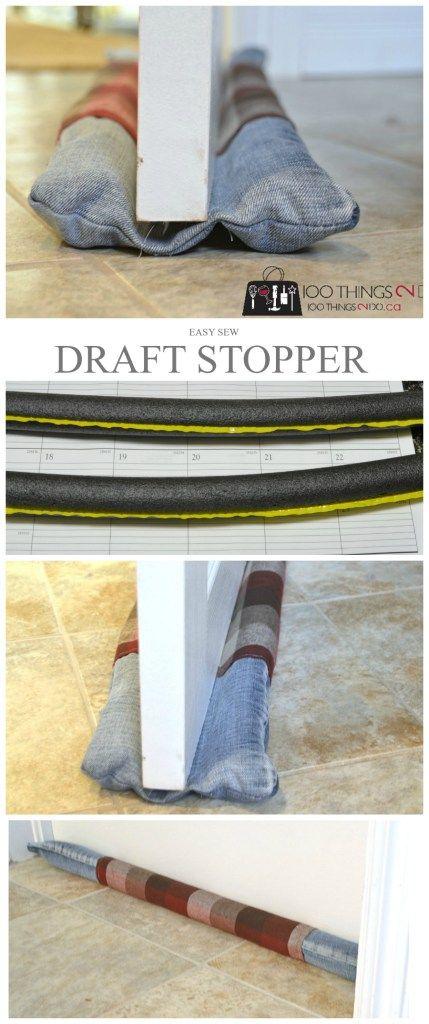 Easy Draft Stopper (from repurposed jeans & 25+ unique Door draft ideas on Pinterest   Draft stopper Door ... pezcame.com