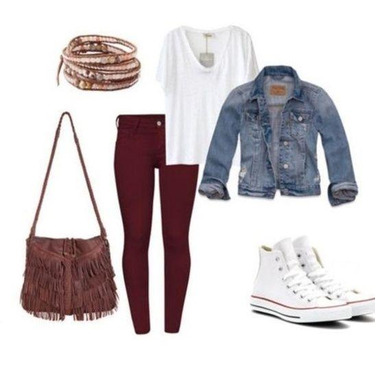 0d8d66296079d5 -Fall Fashion trends. White Splended v-neck tee