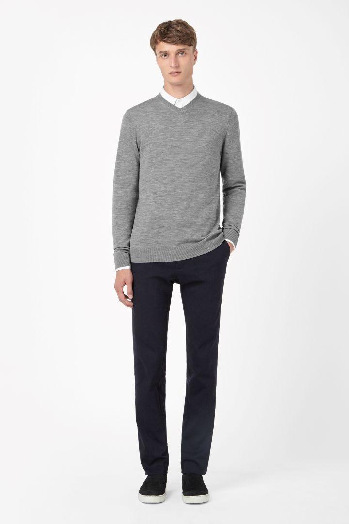 COS | V-neck merino jumper