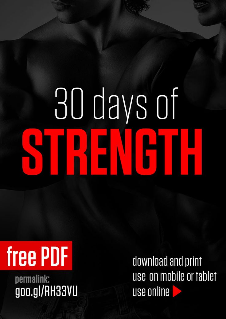Page 1 of 32 30 Days of Strength is a strength oriented program designed to increase your muscle mass, improve performance and stamina. It is based on bodyweight resistance training and includes HIIT and ab routines to help with definition....