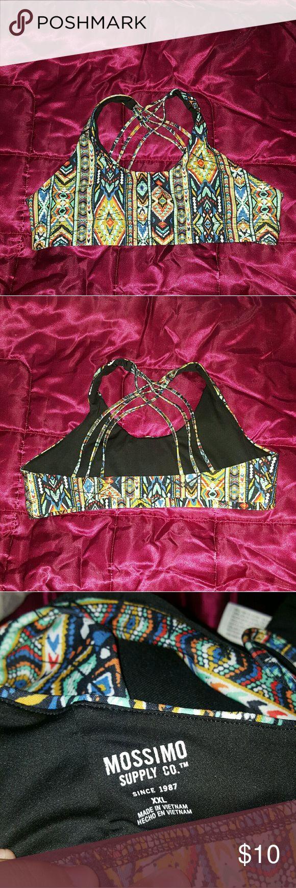 2x sports bra Aztec design. Like new. True to size Mossimo Supply Co. Intimates & Sleepwear Bras