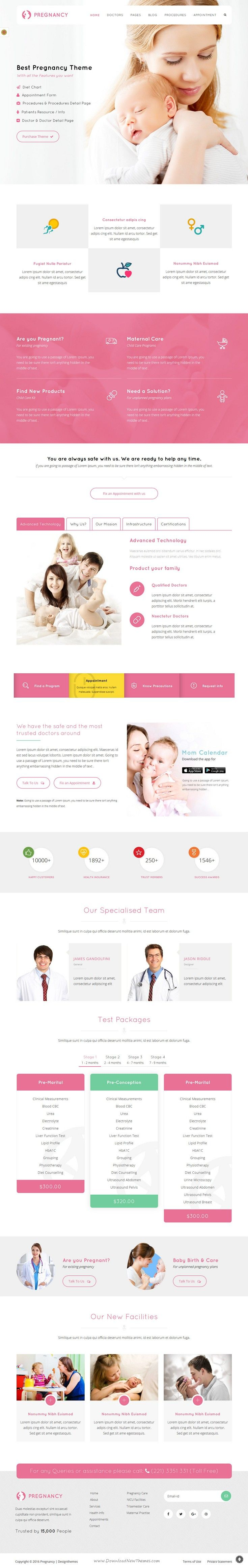 #Pregnancy is an elegant Health and #Medical Business WordPress #Theme best suitable for Gynecologist and Infant or Child specialists and Hospitals #website. Download Now!
