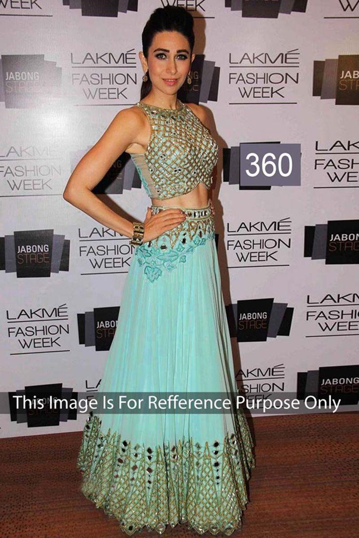Karisma Kapoor Aqua Net Latest Designer Bollywood Lehenga