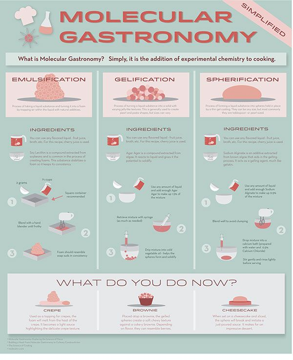 Molecular Gastronomy Infographic on Behance