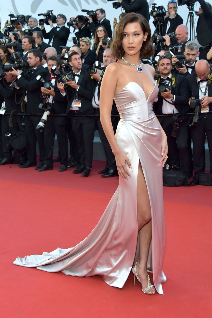 And the Award for Cannes 2017's Highest Leg Slit Goes to Bella Hadid