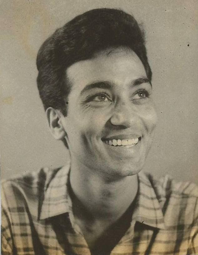 A rare photograph of the famous Ghazal singer and Bollywood playback singer Bhupinder Singh at a young age.