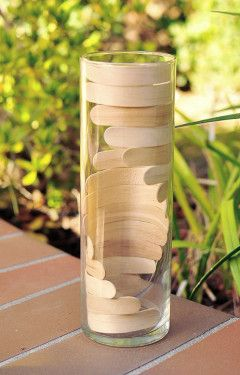 DIY Popsicle Stick Vase tutorial - clever - from The Cheese Thief