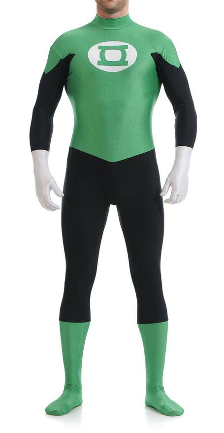 Ensnovo Mens Green Lantern Spandex Superhero Cosplay Halloween Costume  Hoodless Green Lantern Morph Suit Costume Zentai - Best 25+ Green Lantern Costume Ideas On Pinterest Green Lantern