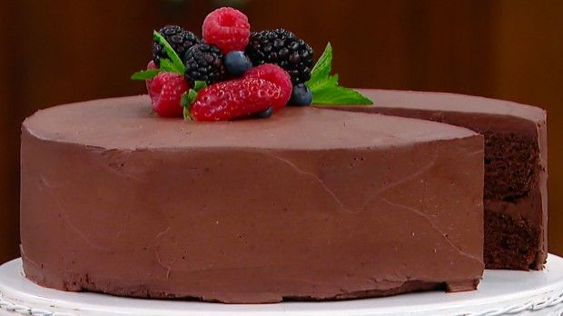Dish Do-Over: Healthier Double Chocolate Cake | Steven and Chris | You won't miss the fat or sugar in Chef Jo's Dish Do-Over Double Chocolate Cake!