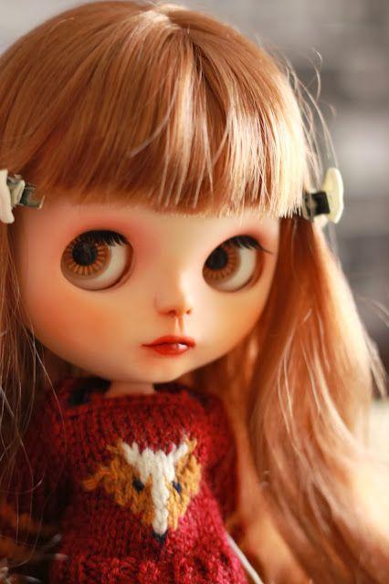 chica con flequillo, blythe, custom, doll