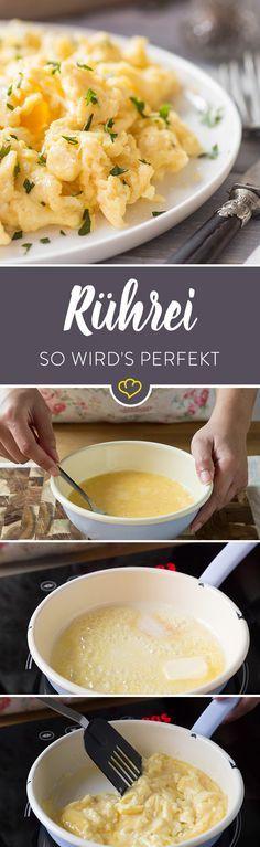 Cremig oder fluffig und locker? Mit den richtigen Zutaten und ein paar Tipps zur Zubereitung ist dein perfektes Rührei im Handumdrehen fertig.