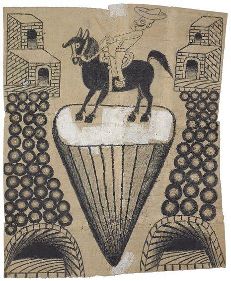 Trains, saints & cowboys: Schizophrenic artist Martin Ramirez's drawings from the mental hospital