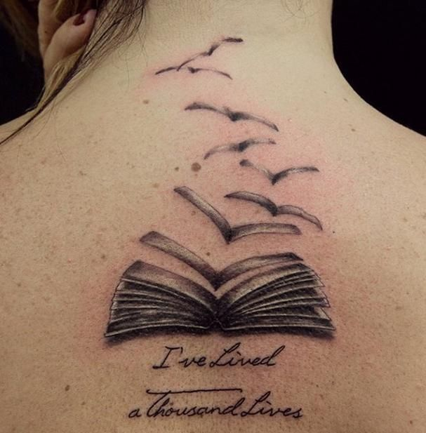 25 Book Tattoo Ideas For Bookworms