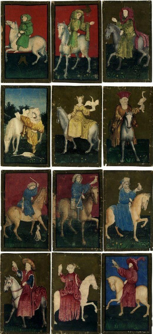 Ambraser Hofjagdspiel (The Ambras Court Hunting pack), c.1445