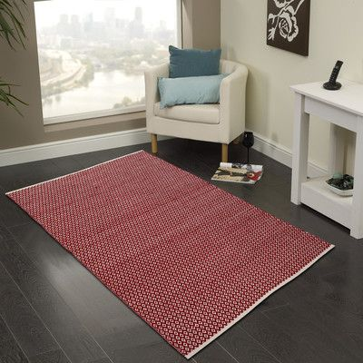 Cozy Home and Bath Hand-Woven Red Area Rug Rug Size: