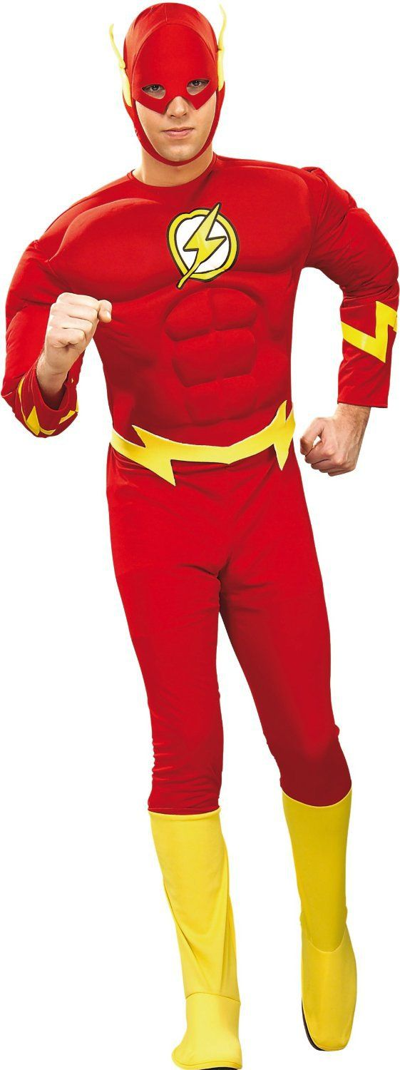 Flash Muscle Chest Adult Superhero Costume Justice League Costumes - Mr. Costumes