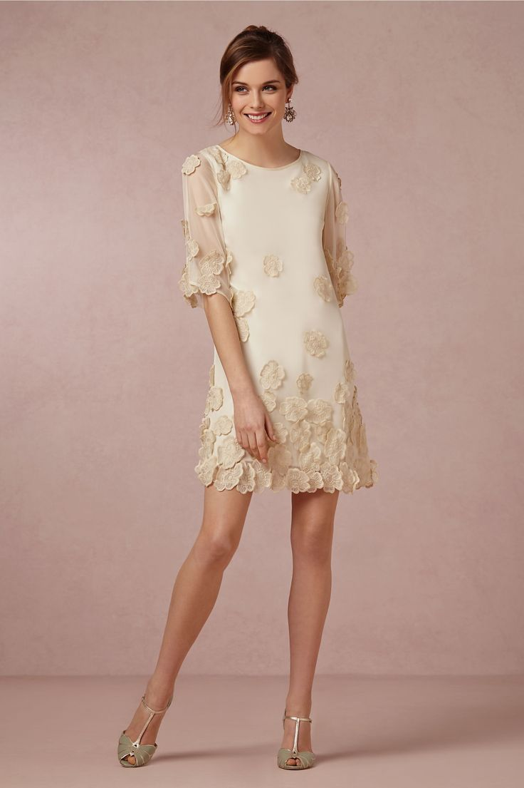 Elegant  Gardenia Dress in Bride Reception Dresses at BHLDN Rehearsal dress anthro again