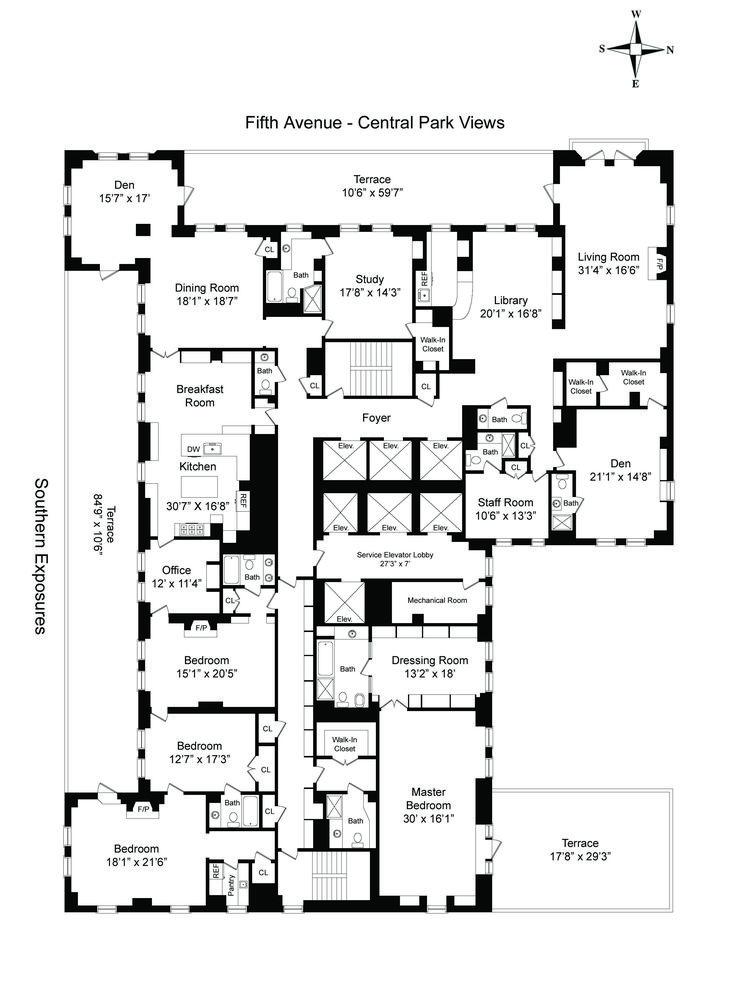 2485 best floorplans images on pinterest | penthouses, apartment
