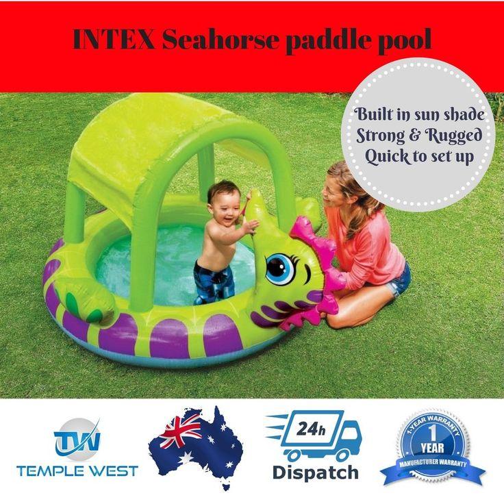 INTEX Inflatable Swimming Pool Kids Toddler Baby Paddle Garden Water Sun Shade