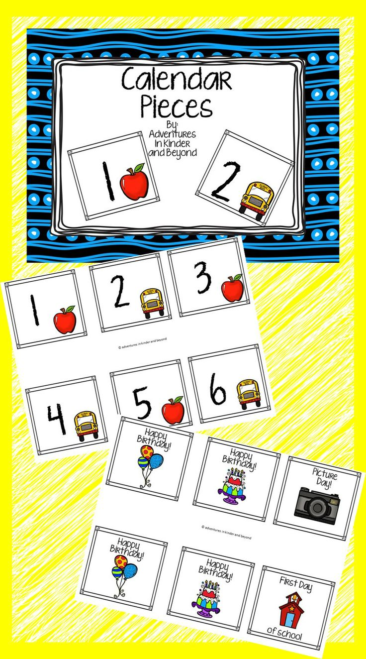 Kindergarten Calendar Activities : Best preschool calendar printables images on pinterest