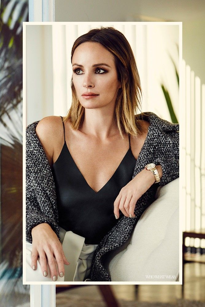 Catt+Sadler's+Go-To+Statement+Piece+for+a+Timeless+Work+Look+via+@WhoWhatWear