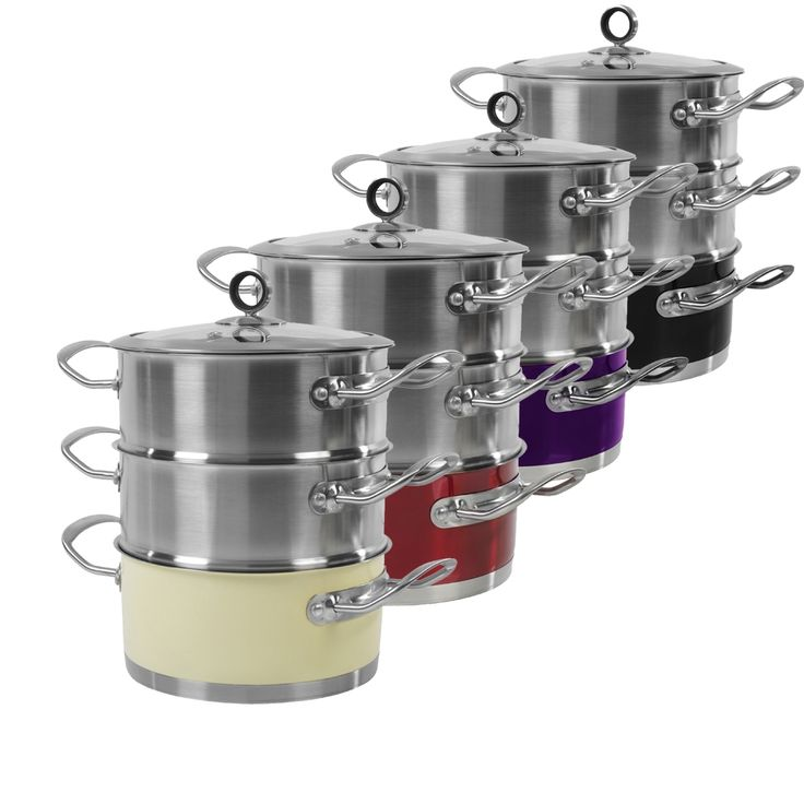 #MorphyRichards Accents 3 Tier #Steamer #kitchenutensils http://www.palmerstores.com/product/morphy-richards-accents-3-tier-steamer/1554/
