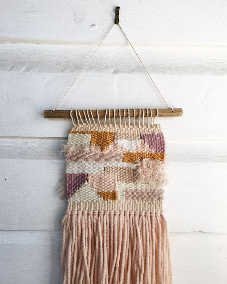 Last week's woven wall hanging 👵🏼