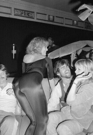 "New York: Tanya Tucker (left) parties at Studio 54 late, July 28, after opening in Broadway Opry '79: A Little Country in the Big City at the St. James Theater here. With her are actor Treat Williams (center), who appears in the new film, The Fabricator, and actress Candy Clark (right), starring in the film sequel to American Grafitti"", titled More Grafitti."