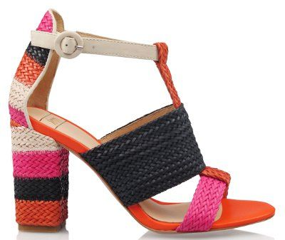 Women's Fashion Footwear : Jenga - Orange Multi